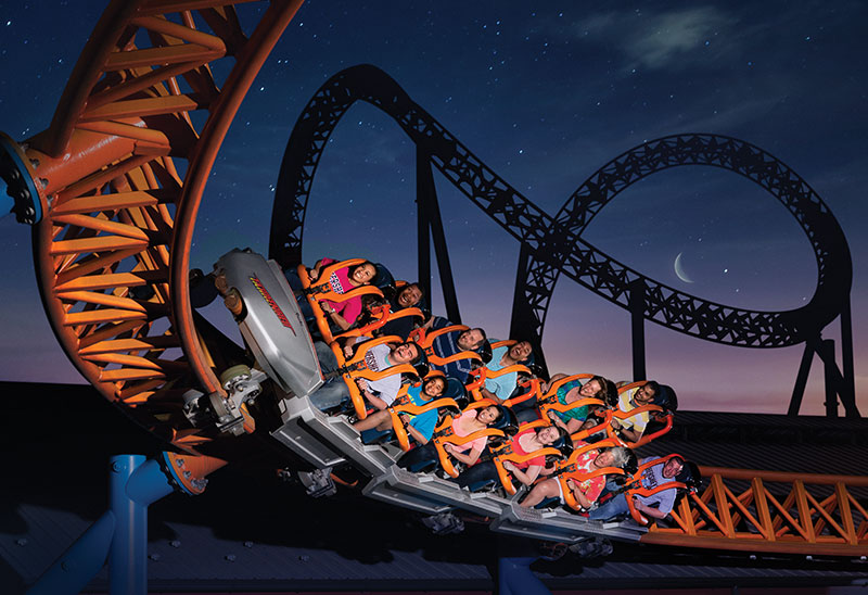 Fahrenheit under the stars at Hersheypark In The Dark