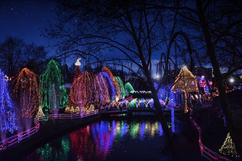 Christmas Lights at Hersheypark Christmas Candylane