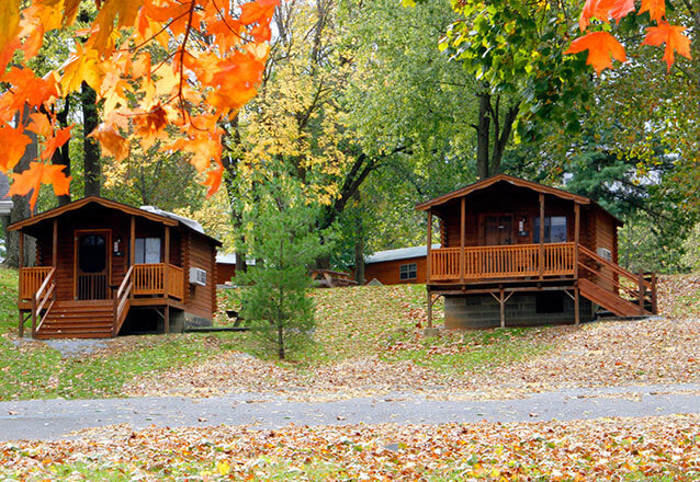 Hersheypark Camping Resort in the Fall