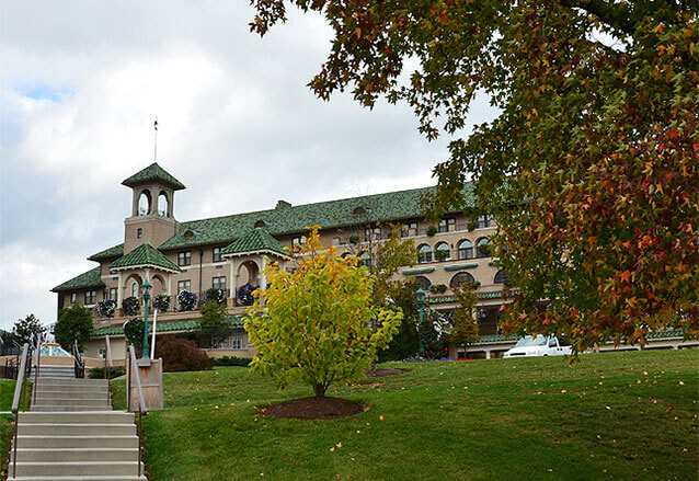 The hotel hershey in the fall