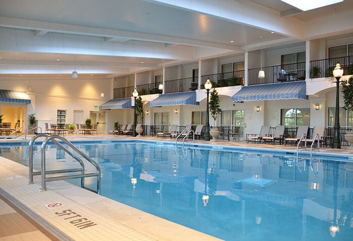 Indoor pool at the hotel hershey