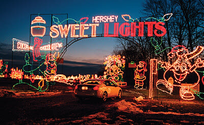 treatville at hersheypark in the dark - Drive Through Christmas Lights Pa