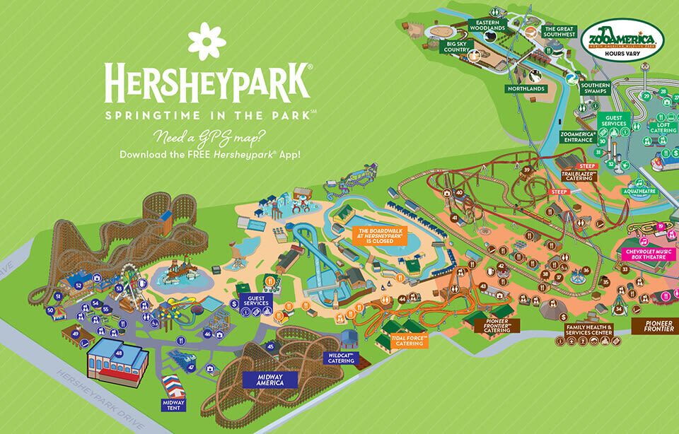 map of Hersheypark Springtime In The Park