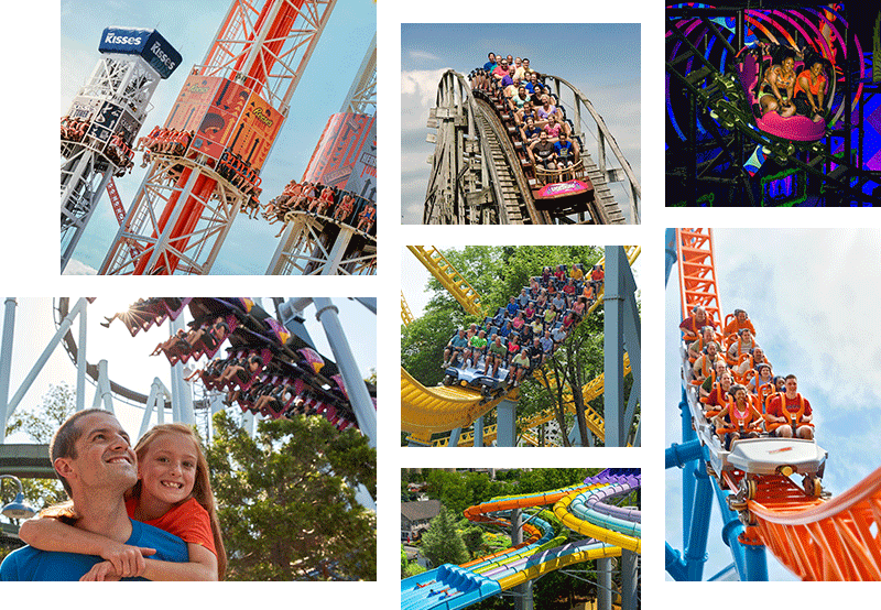 Collage of Hersheypark Happy!